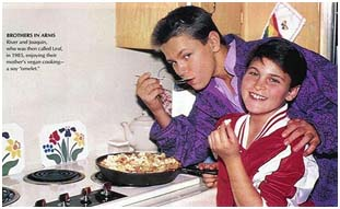River Phoenix with older brother Joaquin