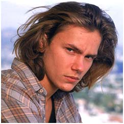 River Phoenix as a teenager
