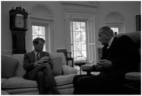 Robert Kennedy with LBJ