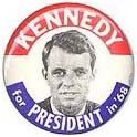 Robert Kennedy presidential campaign button
