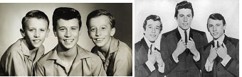 Robin Gibb and his brothers