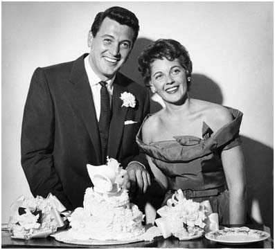 Rock Hudson and wife, Phyllis Gates