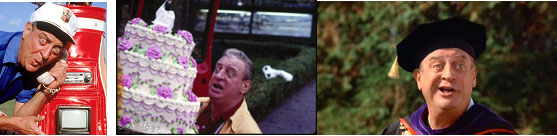 Rodney Dangerfield appearing in Caddyshack, Easy Money and Back to School