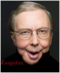 Roger Ebert after cancer surgery on cover of Esquire Magazine