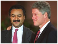Ron Brown with Bill Clinton