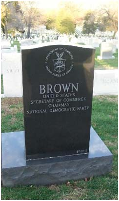 Ron Brown's grave at Arlington National Cemetery