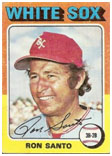 Ron Santo Whitesox baseball card