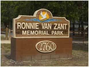 Ronnie Van Zandt Memorial Park in Lake Asbury, Florida