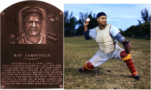 Roy Campanella hall Of Fame Plaque