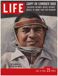 Roy Campanella on the cover of LIFE Magazine after his car crash