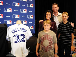 Roy Halladay with his wife and kids