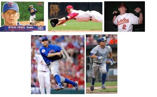 Ryan Freel playijng for his various baseball teams