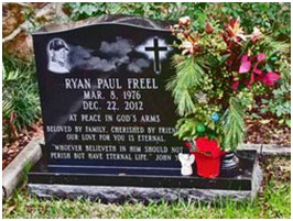 Ryan Freel's grave site