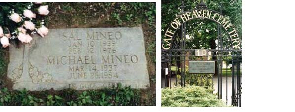 Sal Mineo head stone and cemetary