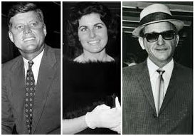 J.F.K., Judy Campbell, and Sam Giancana