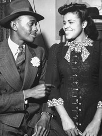 Satchel Paige and Janet Howard