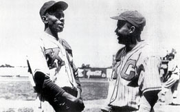 Satchel Paige and Jackie Robinson