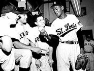 Satchel Paige with the St. Louis Browns
