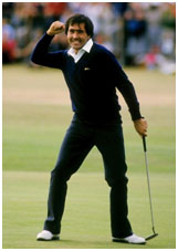 Seve Ballesteros playing golf