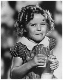 Shirley Temple with curly hair