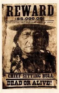 Sitting Bull wanted poster