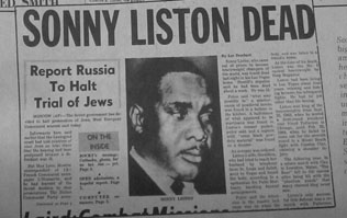 Sonny Liston newspaper report of his death