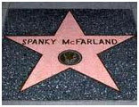 Spanky's star on hollywood walk of fame