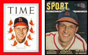 Stan Musial on the cover of TIME and SPORT Magazine