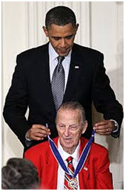 Stan Musial with President Obama, 2011