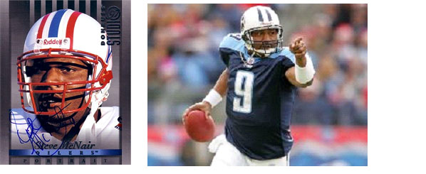 Steve McNair playing for oilers/titans