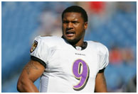 Steve McNair playing for the ravens