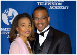 Stuart Scott and his wife