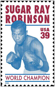 Sugar Ray Robinson commemorative stamp
