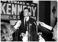 Ted Kennedy campaigning for US Senate, 1962