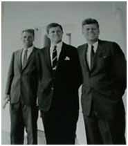 Ted Kennedy with his brothers after being elected to the US Senate