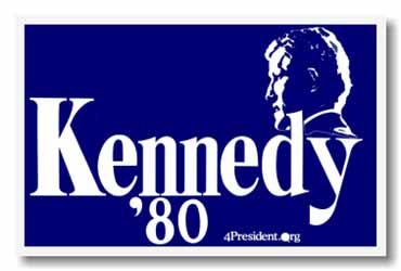 Ted kennedy presidential Campaign poster in 1980