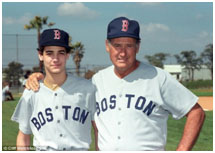 Ted Williams with daughter, Claudia