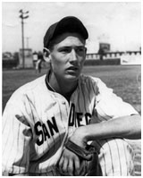 Ted Williams while playing for the Sandiego Padres minor league team