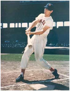 Ted Williams while playing for the Redsox