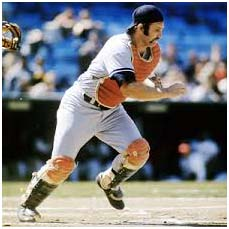 Thurman Munson Catching For Yankees