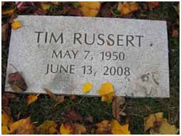 Tim Russert's resting place at Rock Creek Cemetery in Washington, D.C.