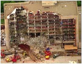 Oaklahoma City Building after McVeigh tried to blow it up
