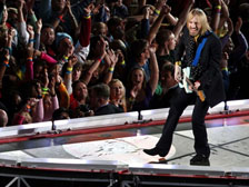 Tom Petty performing at Super Bowl XLII