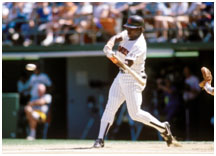 Tony Gwynn playing for the Padres