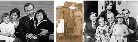 Ty Cobb with his family