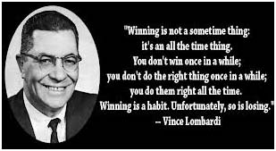 Vince Lombardi quotes about winning