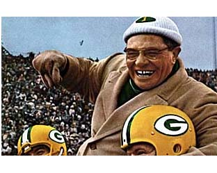 Vince Lombardi celebrating a champtionship win