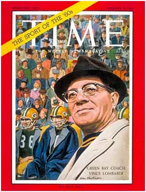 Vince Lombardi on the cover of Time magazine