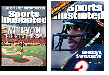 Walter Payton on cover of Sports Illustrated