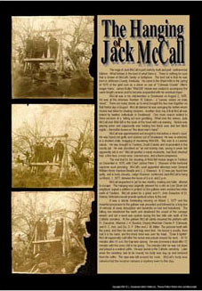 The hanging of Jack McCall